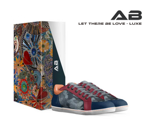 AB Love Luxe Custom Italian Leather & Suede Low-top Sneakers