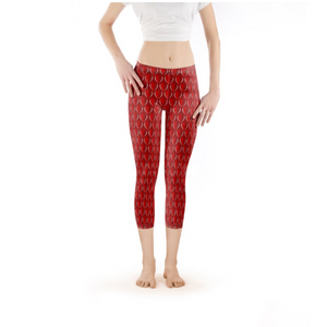 """Kristi"" Fluttering Hearts Yoga Pants from the AB Love Luxe Collection"