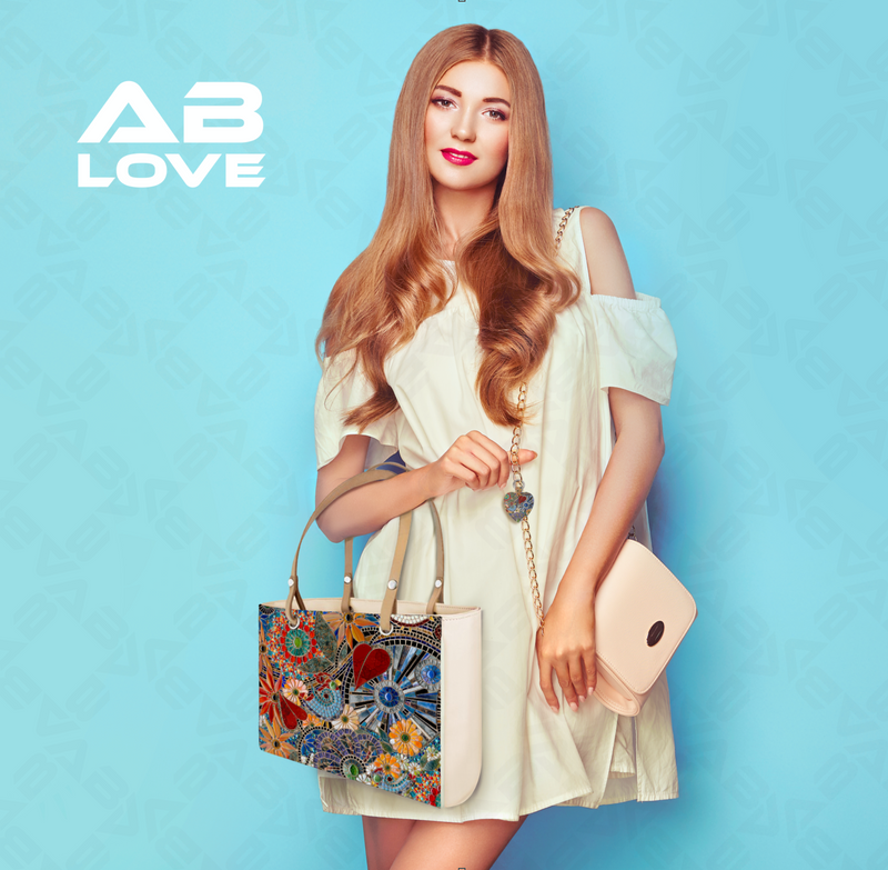 AB LOVE LUXE LEATHER & PRINT HANDBAG (SMALL)
