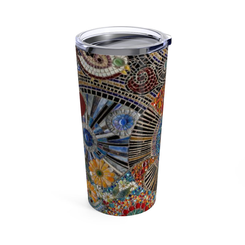AB Fine Art Glass Mosaic Tumbler 20oz