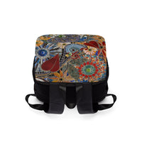 AB Fine Art Glass Mosaic Casual Shoulder Backpack