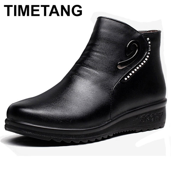 Genuine Leather Women Ankle Boots