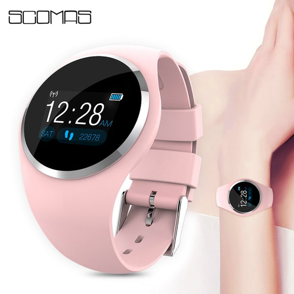 Fashion Smart Watch  Blood Pressure Monitor Women Physiological Reminder Smartwatch For Android IOS