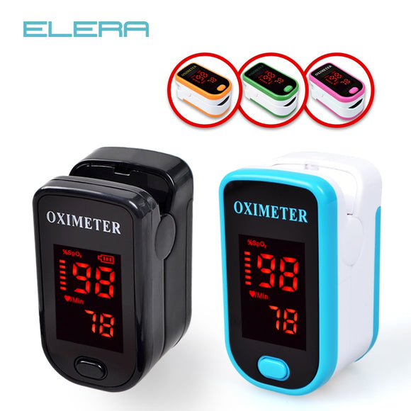 Finger Pulse Oximeter With Case Fingertip