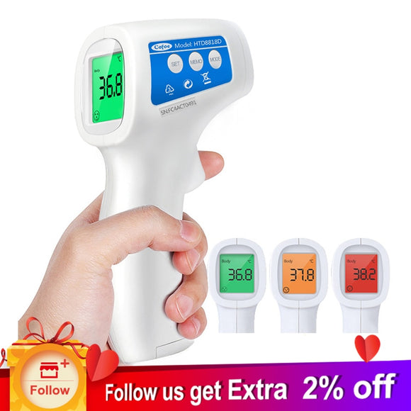 Forehead Non Contact Infrared Baby Thermometer Body