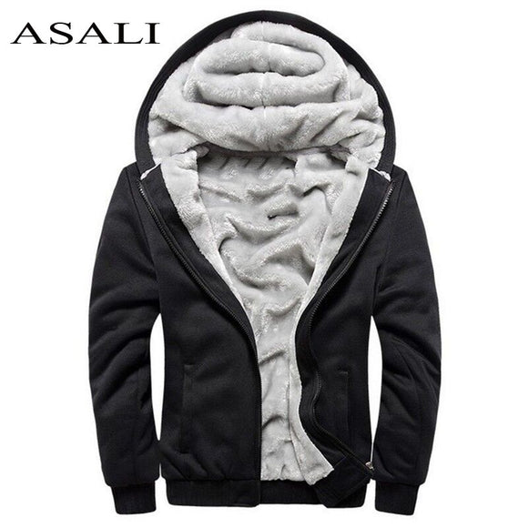 Jacket Men Overcoat Hooded Velvet Wool Winter Spring Thick Warm Casual Hip Hop Male Jackets