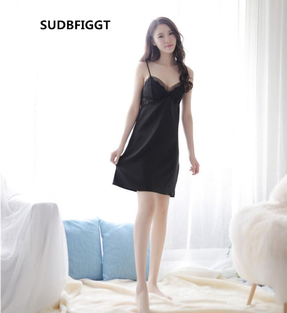Women full slips dress HOT ladies intimates sexy see through lace Slips