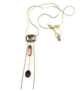 Necklace with Pendant of Glass Stones - DivaHats Boutique