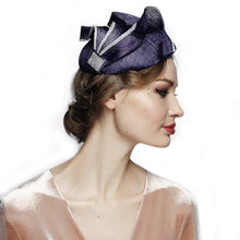 Load image into Gallery viewer, Stylish  Fascinator Derby Cocktail Tea Party Hat - DivaHats Boutique