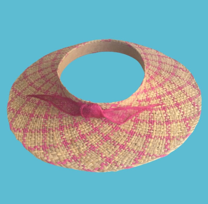 Wide brim straw sun visor for women Summer beach Headwear - DivaHats Boutique