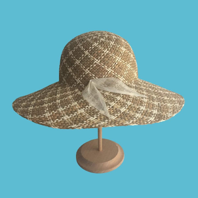 Wide brim straw sun hat for women Summer beach Headwear - DivaHats Boutique