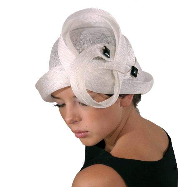 Lovely cloche with loops and pin Derby Party Wedding Hat - DivaHats Boutique