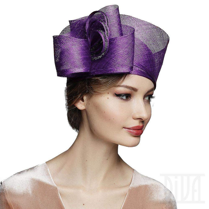 Sinamay cloche Derby hat for women - DivaHats Boutique