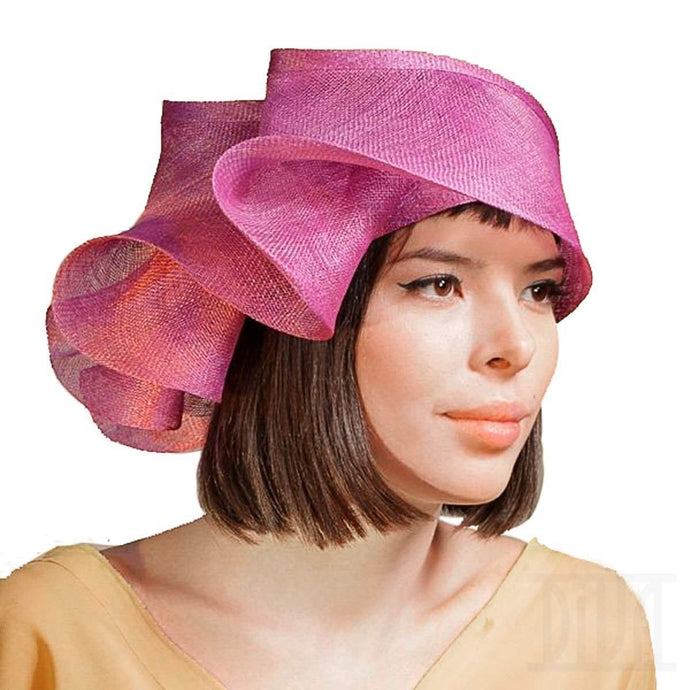 Women's Creative Wavy Brim Toque Kentucky Derby Church Tea Party Hat - DivaHats Boutique