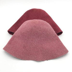 Melza Fur Felt Cone Hat Bodies with a Long-Haired Finish. - DivaHats Boutique