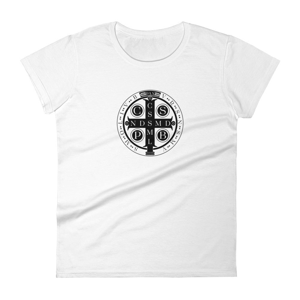 Benedictine Medal T-Shirt - CATACOMBS CATHOLIC