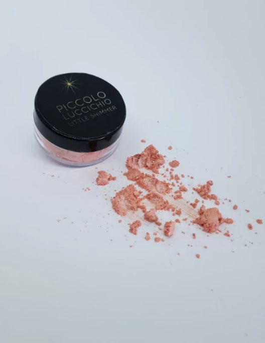 Metallic Pearl Blush Pink Little Shimmer Sparkle