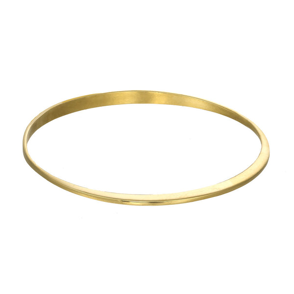 Minimalistic Gold Cuff Bracelet in 14kt and 18kt gold