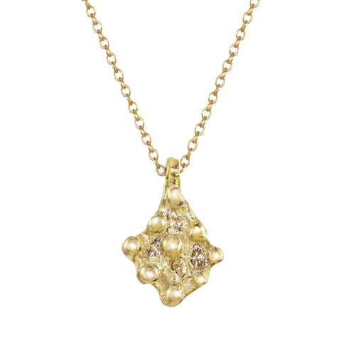 Four Marquise Diamond Shield Necklace