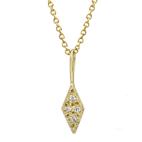 Small Frosted Diamond Necklace