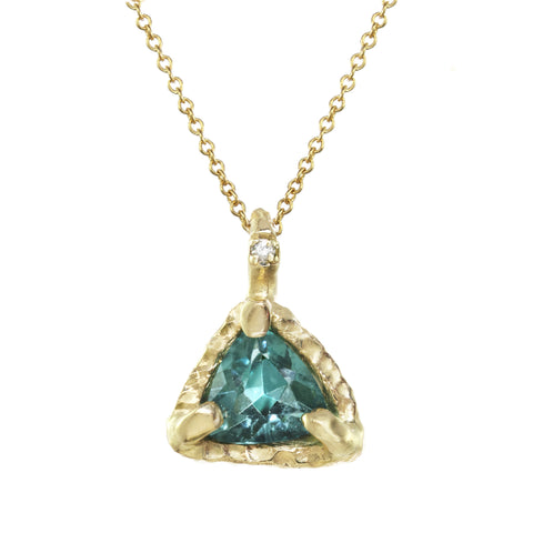 Triangle Tourmaline Pendant