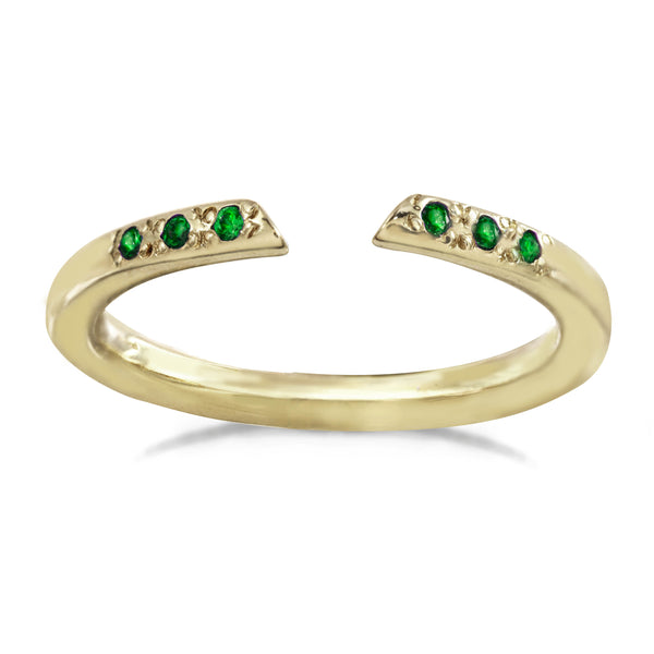 Open Arms Ring - Sapphire and Emerald