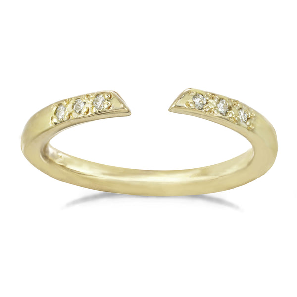 Open Arms Ring - Plain and Diamond