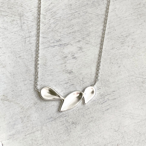 Triple Leaf Necklace