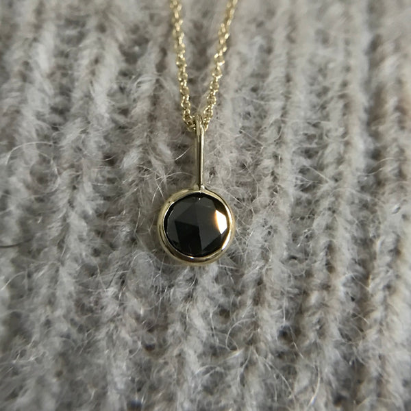 Large Black Diamond Pendant