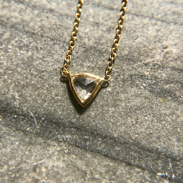 Triangle Diamond Slice Necklace
