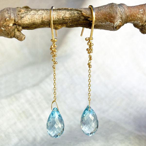 Teardrop Topaz Northern Stars Dangles