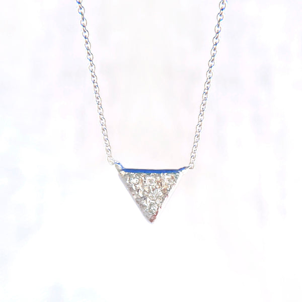 Tiny Triangle Diamond Necklace