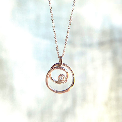 Spiral Circle Necklace