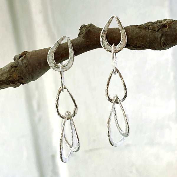 Textured Link Dangles 2-Part Earring