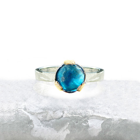 Topaz Wide Prong Ring