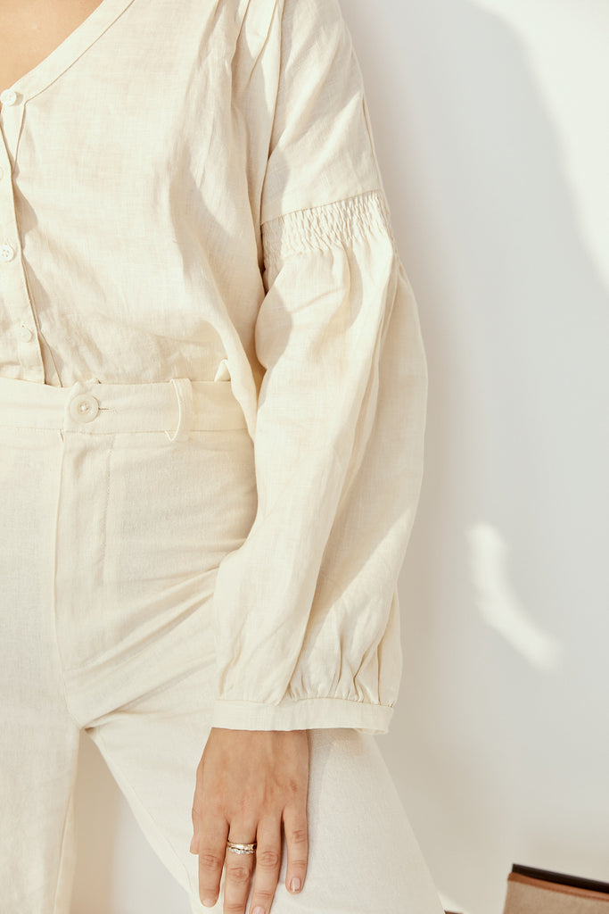 Amelie Blouse in Cloud Cream
