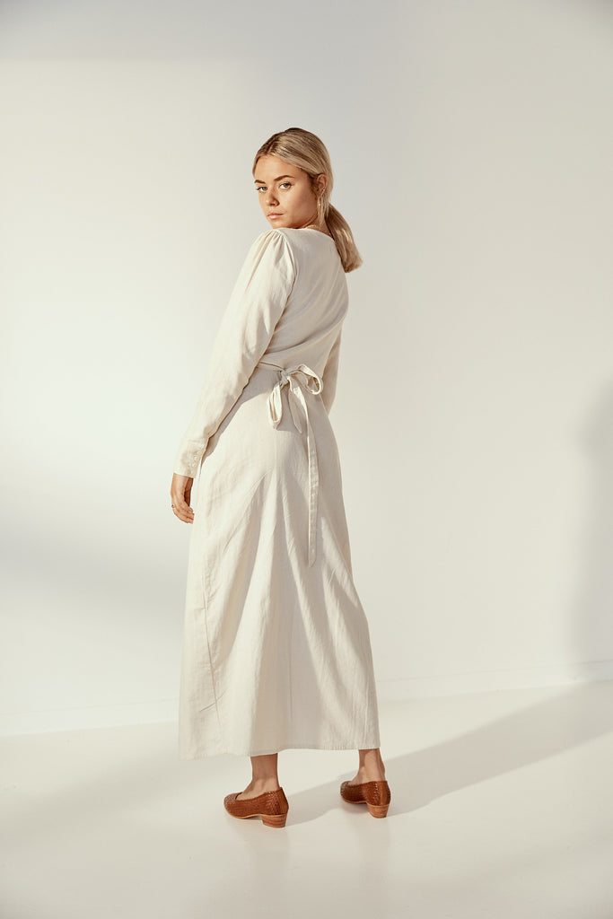 Maya Dress in Cloud Cream
