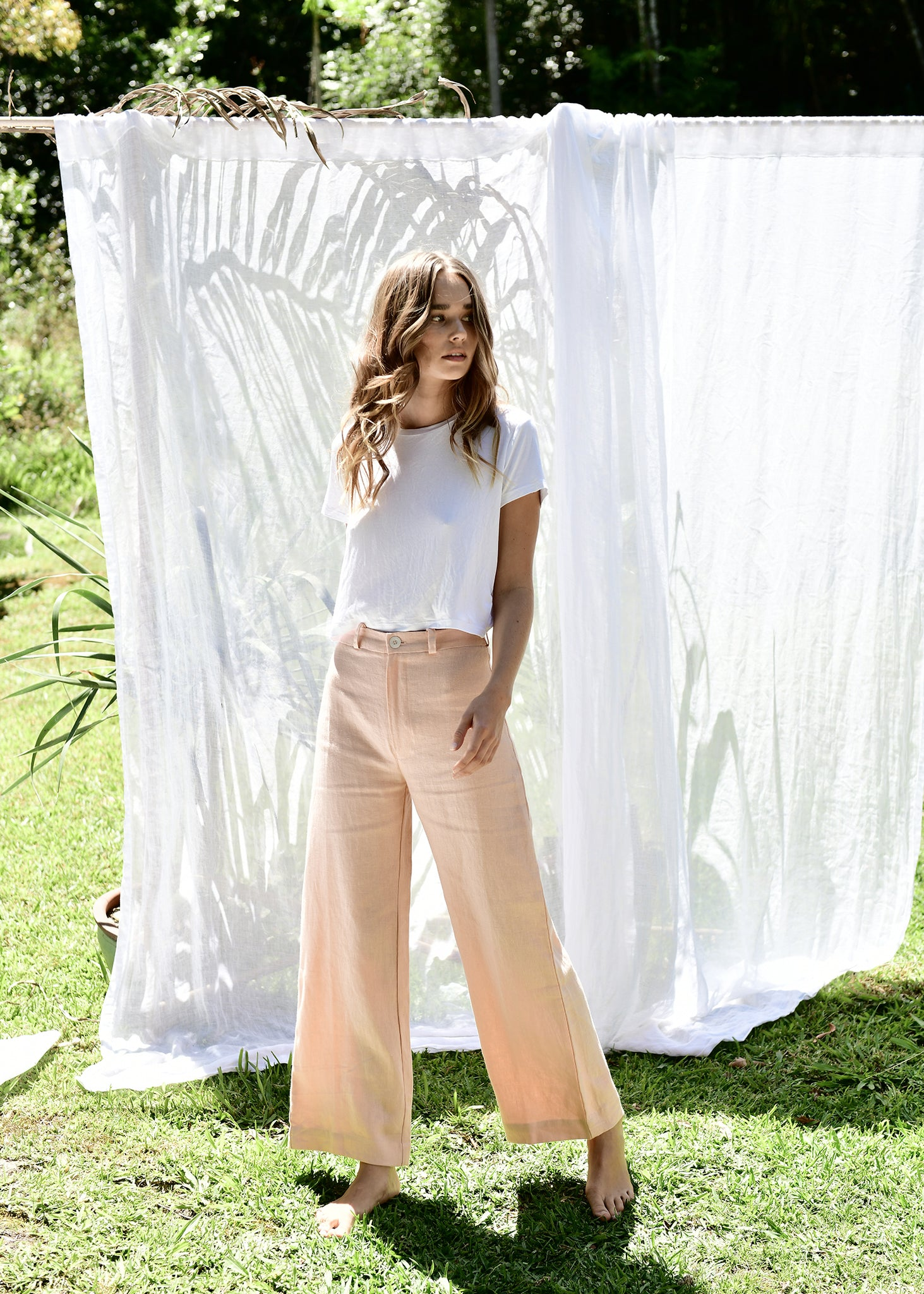 Lou Pants in Coral