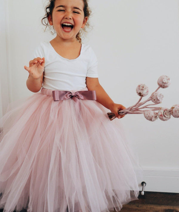 Mauve Flower Girl Tutus | Tulle Skirt Mauve | Six Stories Girls Tutu Handmade in the UK