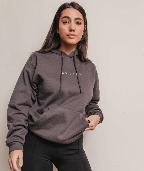 CHARCOAL BRIDEY HOODIE BY SIX STORIES, WOMENS CHARCOAL HOODIE