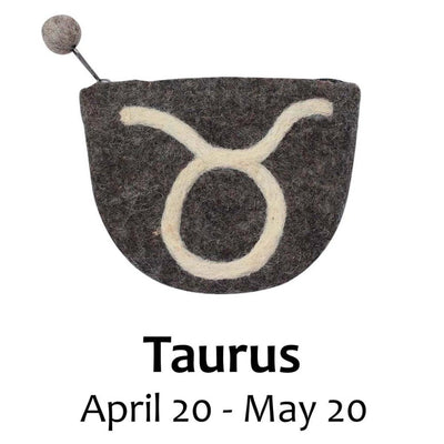 Felt Zodiac Taurus Clutch Purse