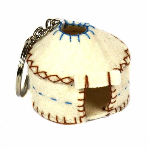Key Chain - Yurt - Silk Road Bazaar (K)