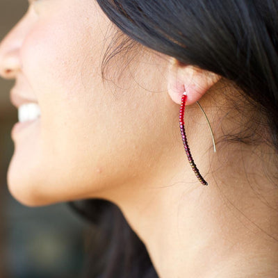 Styx Earrings - Raspberry - Lucias Imports (J)