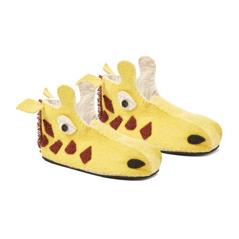 Giraffe Slippers Adult Small
