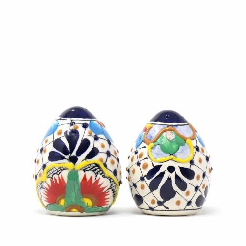 Salt Shakers - Dots and Flowers, Set of Two
