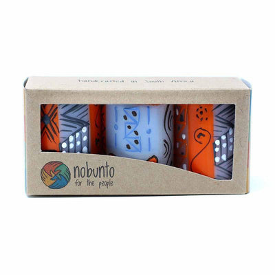 Hand Painted Candles in Kukomo Design (box of three)