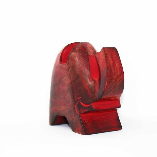 Elephant Eyeglass Stand in Red Wash