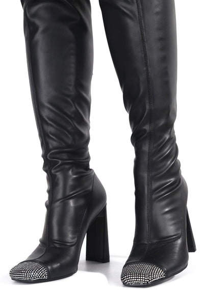 RINGPOP LOTS OF FUN THIGH HIGH BOOTS-BLACK