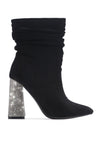 VIKA ULTIMATE BADDIE HEELED BOOTIES-BLACK