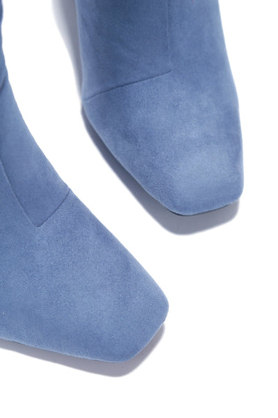 VIKA ULTIMATE BADDIE HEELED BOOTIES-BLUE